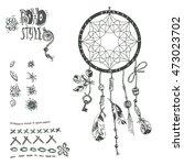 hand drawn vector native... | Shutterstock .eps vector #473023702