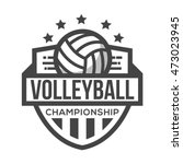 sport volley logo. black and... | Shutterstock .eps vector #473023945