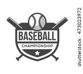 sport baseball logo. black and...   Shutterstock .eps vector #473023972