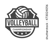 sport volley logo. black and... | Shutterstock .eps vector #473024056