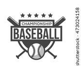sport baseball logo. black and...   Shutterstock .eps vector #473024158