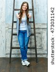 full body portrait of young... | Shutterstock . vector #473031142