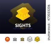 sights color icon  vector...