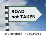 "3d Illustration Of ""road Not..."