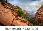 path on angels landing  zion...   Shutterstock . vector #473041105