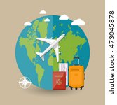 travel concept. world map ... | Shutterstock . vector #473045878