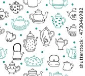doodle seamless pattern with... | Shutterstock .eps vector #473046982