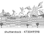 tbilisi  georgia   hand drawn... | Shutterstock .eps vector #473049598