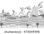 tbilisi  georgia   hand drawn... | Shutterstock .eps vector #473049598