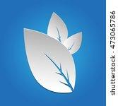 elegant leaves icon. nature... | Shutterstock .eps vector #473065786