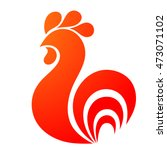 rooster icon. rooster logo. red ... | Shutterstock .eps vector #473071102