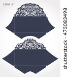 set of 2 wedding invitation... | Shutterstock .eps vector #473083498