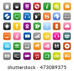 multimedia symbols  sound...   Shutterstock .eps vector #473089375