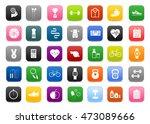 fitness  sports  healthy... | Shutterstock .eps vector #473089666