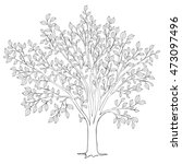 tree with leaves silhouette... | Shutterstock .eps vector #473097496