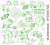 ecology and recycle doodle... | Shutterstock . vector #473101732