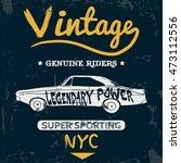 vintage car old vector tee... | Shutterstock .eps vector #473112556