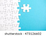 pieces of puzzle connected... | Shutterstock . vector #473126602