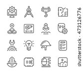 set line icons of engineering | Shutterstock .eps vector #473126776