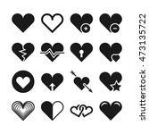 love heart vector icons. set of ... | Shutterstock .eps vector #473135722