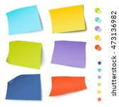 set of multicolored stickers... | Shutterstock .eps vector #473136982