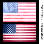 Polygonal Usa Flag.geometric...