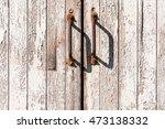 Old Wooden Door With Flaking...
