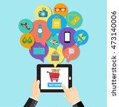 online shopping e commerce... | Shutterstock .eps vector #473140006