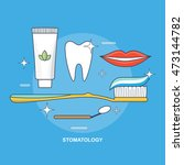 stomatology vector illustration ... | Shutterstock .eps vector #473144782