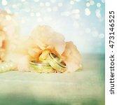 wedding rings | Shutterstock . vector #473146525