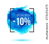 discount 10 percent off sale on ... | Shutterstock .eps vector #473151475