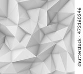 white abstract polygonal... | Shutterstock . vector #473160346