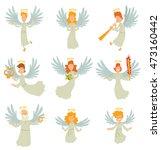 vector cartoon image of a set... | Shutterstock .eps vector #473160442