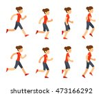 running woman animation sprite... | Shutterstock .eps vector #473166292