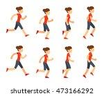 running woman animation sprite... | Shutterstock .eps vector #473166292