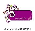 floral frame   Shutterstock .eps vector #47317159