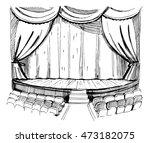 theater scene.sketch vector... | Shutterstock .eps vector #473182075