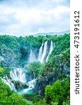 the plitvice lakes national... | Shutterstock . vector #473191612