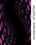 pink squared vector tunnel | Shutterstock .eps vector #47319724