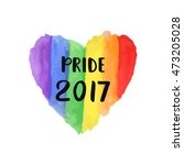 gay pride 2017 creative poster. ... | Shutterstock .eps vector #473205028