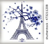 vintage vector illustration of... | Shutterstock .eps vector #473211208