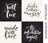 set of four vector chalk... | Shutterstock .eps vector #473214352