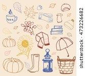 autumn doodle set | Shutterstock .eps vector #473226682