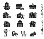 barn   farm building icon set. | Shutterstock .eps vector #473229646