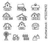 barn   farm building icon set.... | Shutterstock .eps vector #473229652