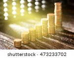 group of gold coin setting in... | Shutterstock . vector #473233702