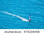 windsurfer on a blue sea | Shutterstock . vector #473234458