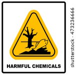 ghs hazard pictogram in yellow... | Shutterstock .eps vector #473236666