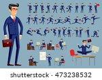 young cartoon businessman in... | Shutterstock . vector #473238532