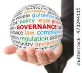 Governance Concept. Hand Take...